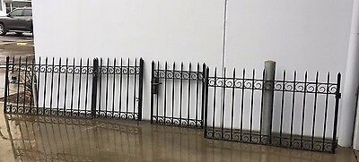 Wrought iron fence and gate panels
