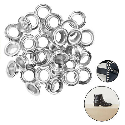 100pcs Brass Silver Eyelets Grommet with Washers Rust Proof Leather Craft Repair
