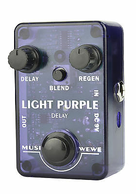 Proudly Australian Designed - 'MUSIWEWE' Light Purple Delay Guitar Effect Pedal