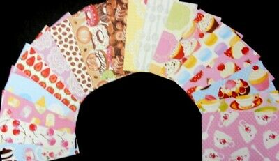 "*CAFE* Colourful Fun Scrapbooking /Cardmaking Papers x 19 - 15cmx10cm (6"" x 4"")"