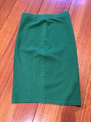 H & M, Green Pencil Skirt, Size Small