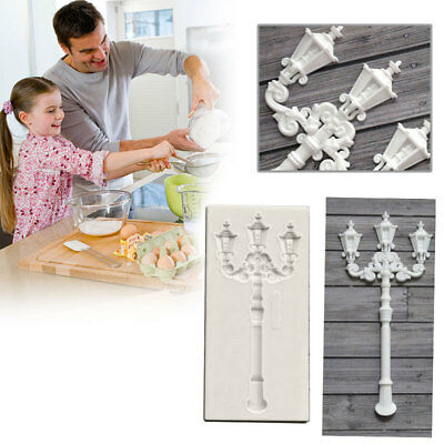 Street Lamp Silicone Mould Cake Molds Chocolate Decor Gum Paste DIY Baking Tools