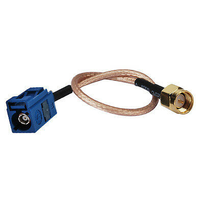 """Fakra Female """"C"""" to SMA Male Plug Pigtail Cable RG316 20cm for Wireless Antenna"""