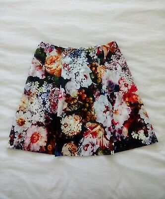 Portmans Signature Whimsical Floral A-Line Skirt Size 8