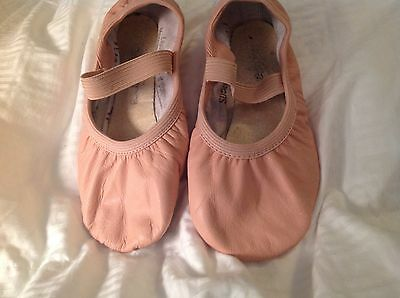 So Danca Pink Leather Ballet Shoes Little Girls 9.5