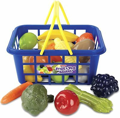 Casdon Shopping Basket Toy Childrens Pretend Play Fruit Vegetable Food Grocery