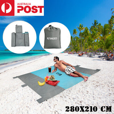 280x210 cm Extra Large Picnic Blanket Beach Mat Outdoor Camping Travel Nylon Rug