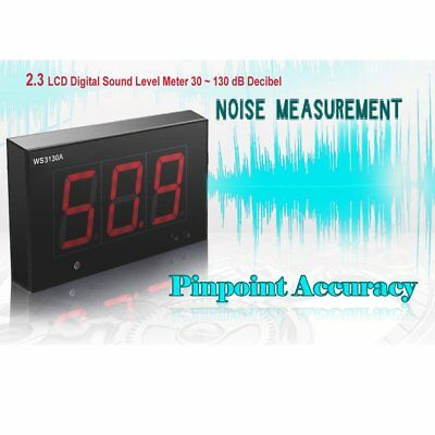 "30-130dB Decibel Noise Measurement 2.3"" LCD Digital Sound Level Meters Test"