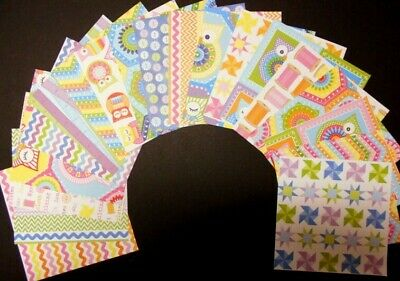 *HANDMADE* Colourful Scrapbooking /Cardmaking Papers x 20 - 15cm x 15cm (6 x 6)