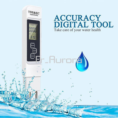 3 In 1 Multifunctional TDS EC PPM Water Quality Meter Tester Pen LCD Display