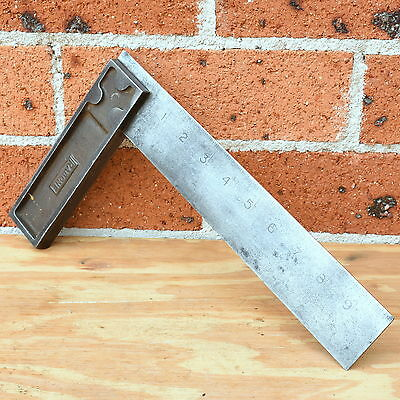 VINTAGE J.RABONE 10 INCH SQUARE No1905 Antique old hand tool measuring metal try