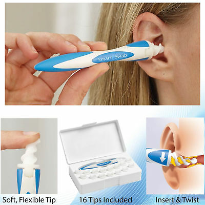 Smart Earwax Removal Soft Spiral Ear Cleaner Multi functional Swab Easy AS TV