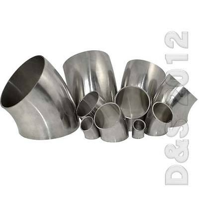 """1Pcs 3/4""""-4"""" 19-102mm Sanitary Weld Elbow Pipe Fit 45 Degree Stainless Steel 316"""