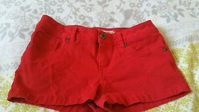 Girls red shorts  age 12
