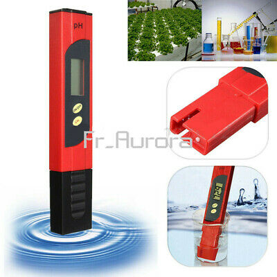 Pocket LCD Digital PH Meter Tester Pen Hydroponics Aquarium Pool Water Measure