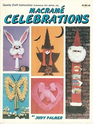 """Vintage 1978 Macrame Pattern Book """"macrame Celebrations"""" There Are 31 Projects"""