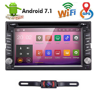 """In Dash Android 7.1 WIFI 4G WIFI 6.2""""2DIN Car Radio Stereo Player GPS Navigation"""