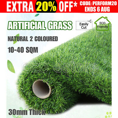 10-40 SQM Roll Artificial Grass Synthetic Turf Plastic Plant Lawn Flooring 30MM