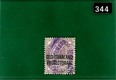 BLACK344 Bechuanaland 1901 Anglo-Boer War period usage violet CENSOR dated oval