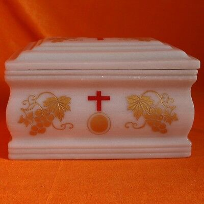 Jade Urn Christian Cross Cinerary Casket