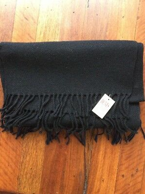 New Dents Lambswool Scarf Black
