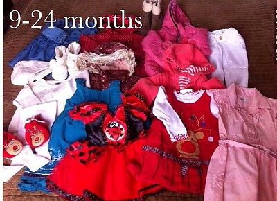 Bundle Of Girls Clothes 9-24 Months