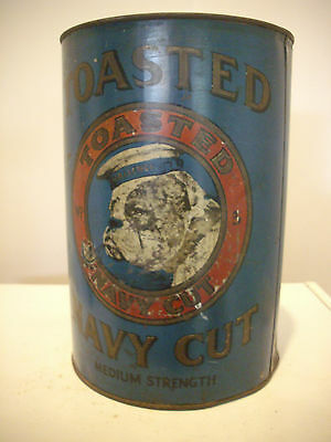 Toasted Navy Cut Shop DisplayTobacco Tin Cigarette Pipe Collectable Nice Bulldog
