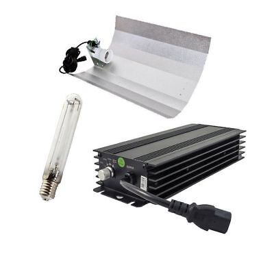 Hydroponics Dimmable Black Ballast Kit Dimmable Ballast 600w HPS Reflector Timer