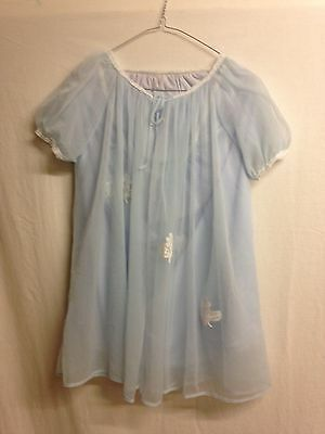 Vintage Negligee and baby size S in blue by Sunray