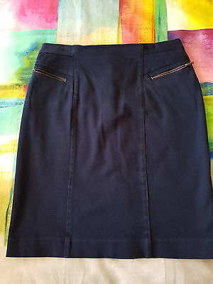 DAVID LAWRENCE navy skirt, Sz 10, good condition