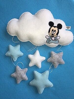 Baby Mickey Mouse nursery mobile hanging wall window decoration shower gift