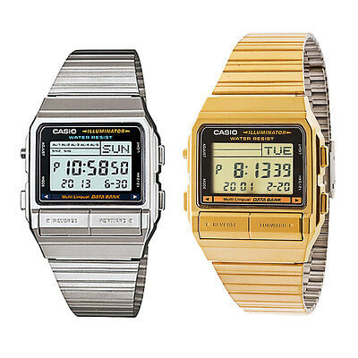 Casio mens watch retro digital databank DB380/DB380G UK seller