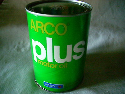 Vintage Arco Plus Motor Oil Can SAE 10 W