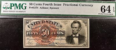 Fr.1374 50 Cents Fourth Issue Fractional Currency PMG 64EPQ