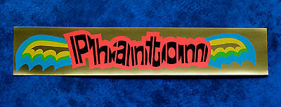 PHANTOM .. Old Vintage 1970,s  Bicycle Bike sticker ..  Skid kid - Dragster