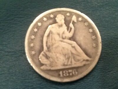 1876-S Liberty Seated Half Dollar- Fine/Very fine