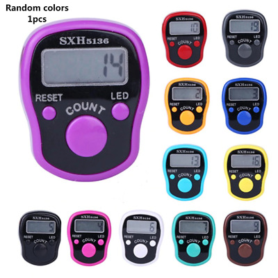 Digital LCD Electronic Finger Ring Counter Tally Tasbee Tasbih Row Counter