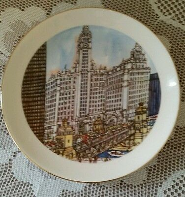 American Pottery Franklin McMahon Pottery Chicago Collection Plate USA 1972