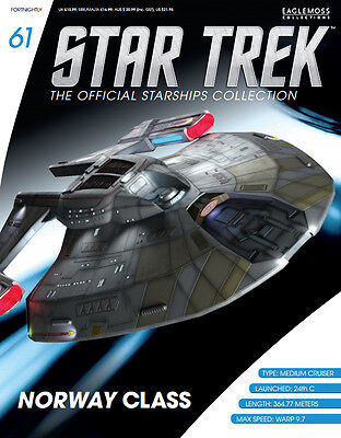 EAGLEMOSS STAR TREK STARSHIP COLLECTION  ISSUE 61 Norway Class (USS Budapest)