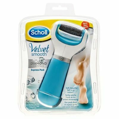 Scholl Velvet Smooth Express Pedi Foot File With Diamond Crystals BLUE