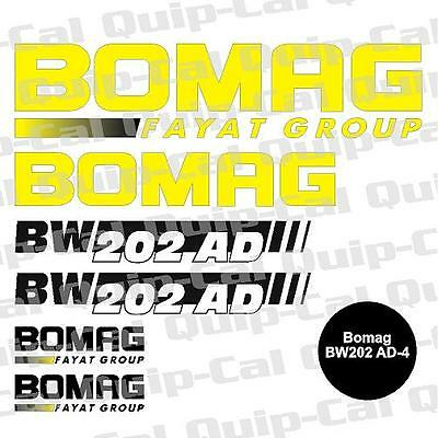 Bomag Dynapac Hyster Hypac Case Vibromax Ingersoll Rand Sakai Decal Sets