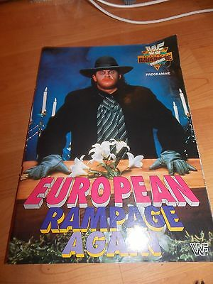 Rare Wwf Wrestling European Rampage Again Programme 1992 - Excellent Condition