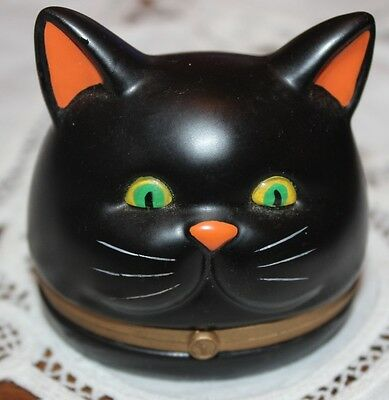 RARE Department 56 BLACK CAT Trinket Box