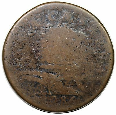 1786 New Jersey Copper, Protruding Tongue, Maris 16-L, nice G+
