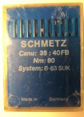 BOX OF 100 SCHMETZ INDUSTRIAL SEWING NEEDLES B63 SIZE 75 -FREE SHIPPING