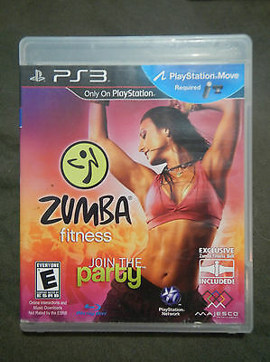 Zumba Fitness Playstation 3 PS3 Game - *COMPLETE*