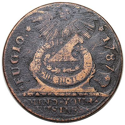 1787 Fugio Copper, UNITED STATES, Newman 11-B, VF detail