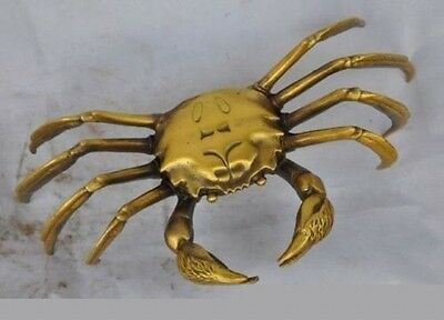 Chinese Exquisite China old Brass Wealth Crab Statue nice