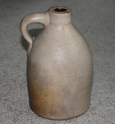 Antique/ Vintage Whiskey Moonshine Jug ~ 1/2 Gallon~STONEWARE POTTERY