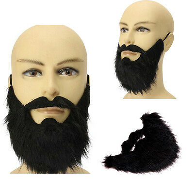 Black False Beards Big Moustaches Halloween Cosplay Party Dress Props Party Mask